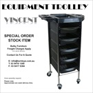 "EQUIPMENT TROLLEY ""VINCENT"" 5DRAWER"