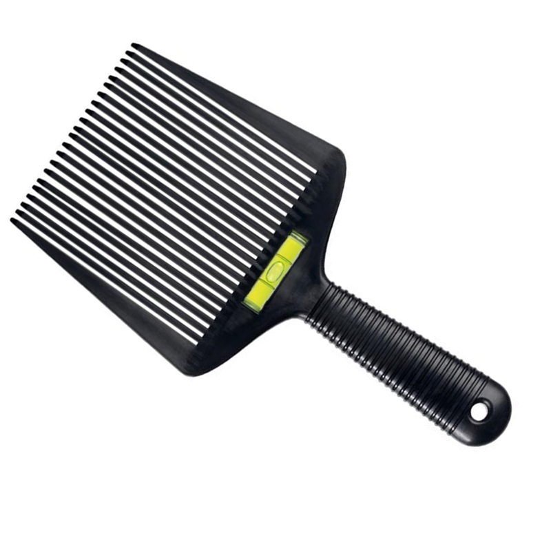 Flat Top Comb With Level Black