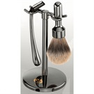 MERKUR SHAVE SET-POLISHED DARK