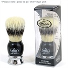 OMEGA SHAVE BRUSH BLACK & SILVER