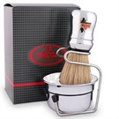 "OMEGA SHAVE SET ""BRUSH+BOWL""SILVER#"