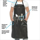 ALLURE ALL PURPOSE APRON BLACK