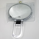BEAUTY MIRROR CLEAR ROUND HINGED