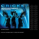 CRICKET APPOINTMENT BOOK 6COLUMN