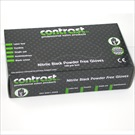 CONTRAST NITRILE GLOVES BLACK 100's