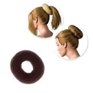 HAIR PADDING DONUT SMALL 9CM BROWN